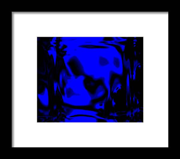 Aupre.com Hypermorphic Arthouse Unique Original Digital Art Made By The Hari Rama Framed Print featuring the painting Blue Fashion by The Hari Rama