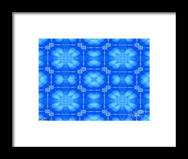 Two Framed Print featuring the digital art Blue Flowers Abstract by Debra Lynch