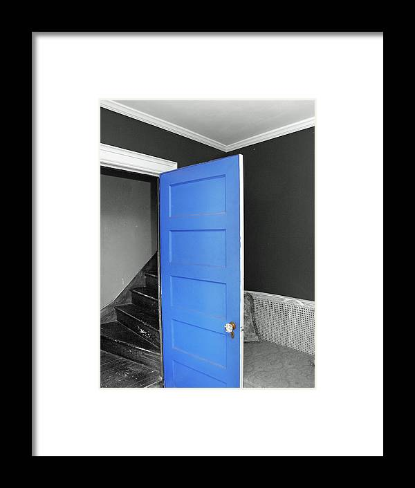 Door Framed Print featuring the photograph Blue by Frank Nicolato