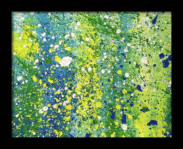 Blue green Slat by Artists With Autism Inc