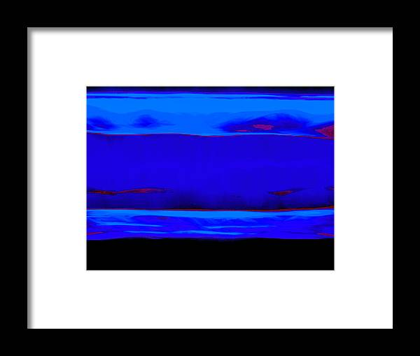 Blue Framed Print featuring the painting Blue Horizon by Vicky Brago-Mitchell