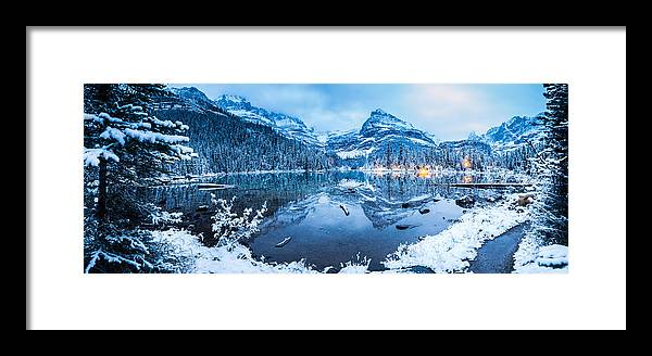 Framed Print featuring the photograph Blue Hour At Lake O'hara by J and j Imagery