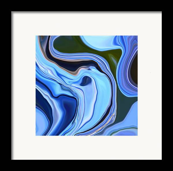 Blue Framed Print featuring the photograph Blue Hydrangea Abstract by Linnea Tober