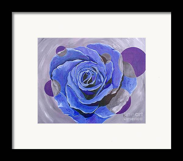 Acrylic Framed Print featuring the painting Blue Ice by Herschel Fall