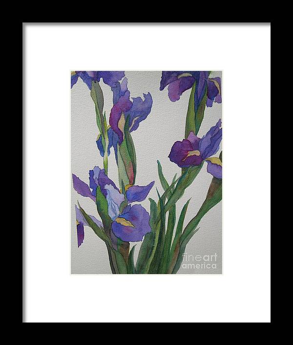 Blue Framed Print featuring the painting Blue Iris by Jeff Friedman