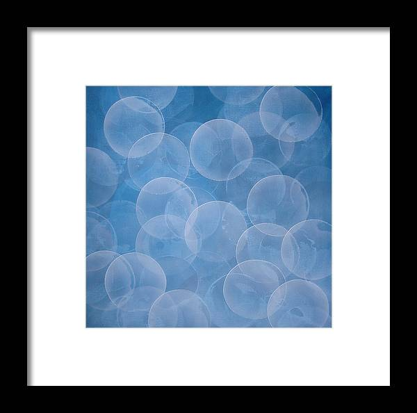 Abstract Framed Print featuring the painting Blue by Jitka Anlaufova