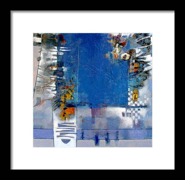 Still Life Framed Print featuring the digital art Blue Kitchen Table by Dale Witherow