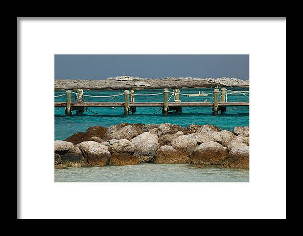 Beach Framed Print featuring the photograph Blue Lagoon by Lori Mellen-Pagliaro