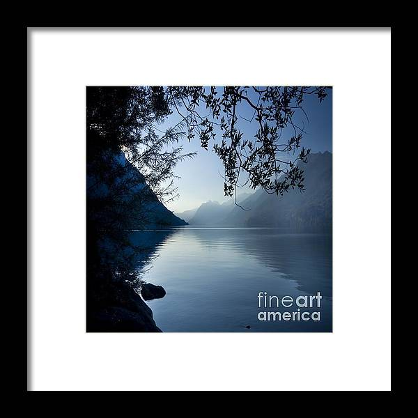 Alps Framed Print featuring the photograph Blue Lake by Angel Ciesniarska