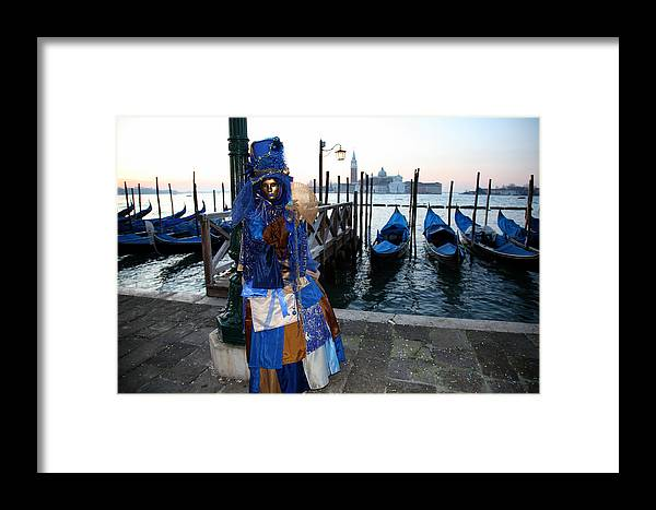 Venice Framed Print featuring the photograph Blue Lips At Sunrise by Donna Corless