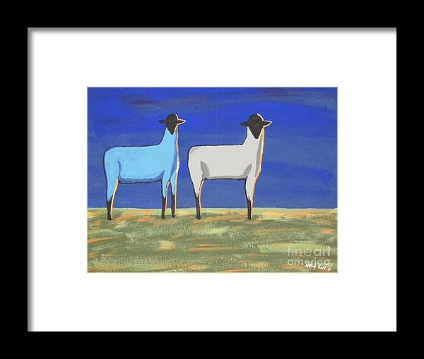 Mammal Framed Print featuring the painting Blue Monday by Jeffrey Koss