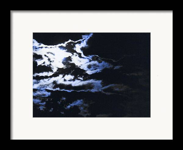 Cloudscape Framed Print featuring the photograph Blue Moon by Curtis Schauer