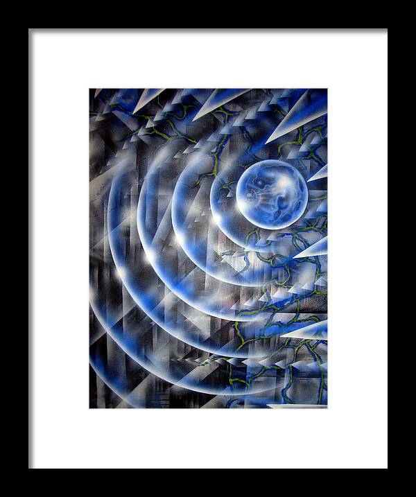 Paint Framed Print featuring the painting Blue Moon Falling by Leigh Odom