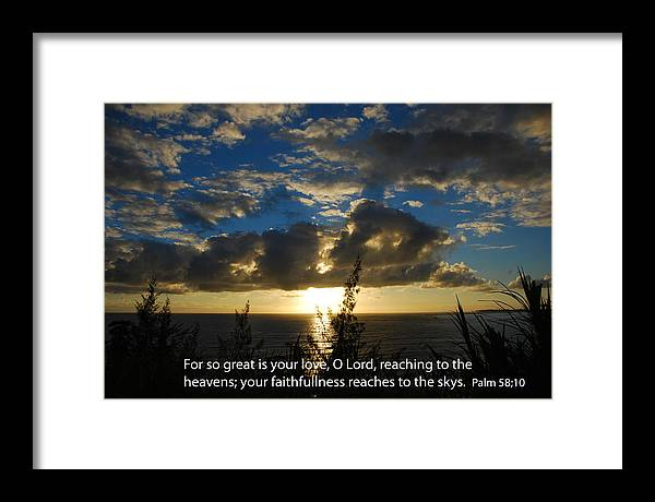 Christian Framed Print featuring the photograph Blue Morning Sky by Steven Rice