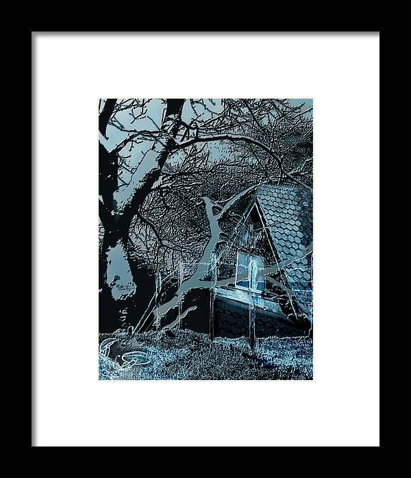 Blue Framed Print featuring the digital art Blue Night by Nicole Gedeon
