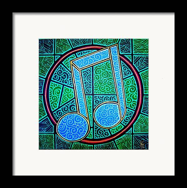 Music Framed Print featuring the painting Blue Note by Jim Harris