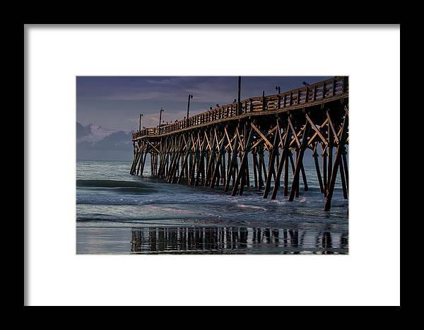 Pier Framed Print featuring the photograph Blue Pier by Leanne Trivett