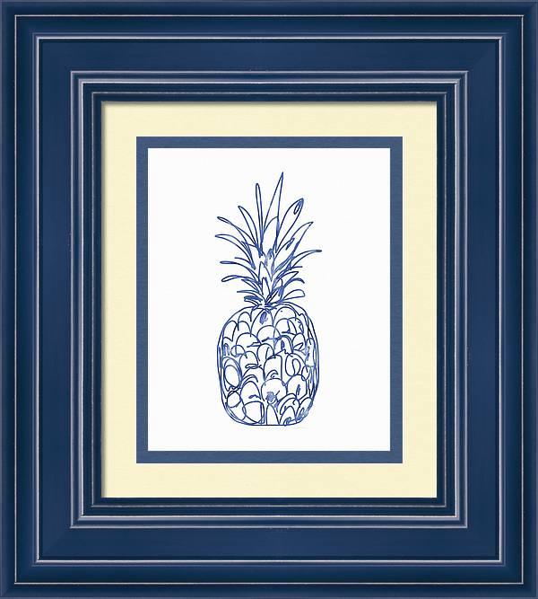 Blue Pineapple- Art by Linda Woods by Linda Woods