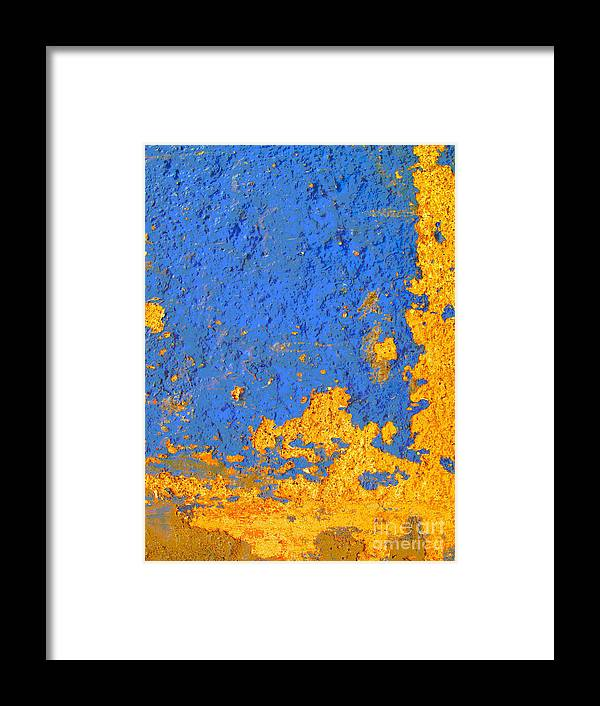 Olden Mexico Framed Print featuring the photograph Blue Plaster 3 By Darian Day by Mexicolors Art Photography