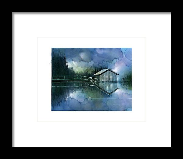 Seescape Framed Print featuring the painting Blue Rapsody by Dumitru Barliga