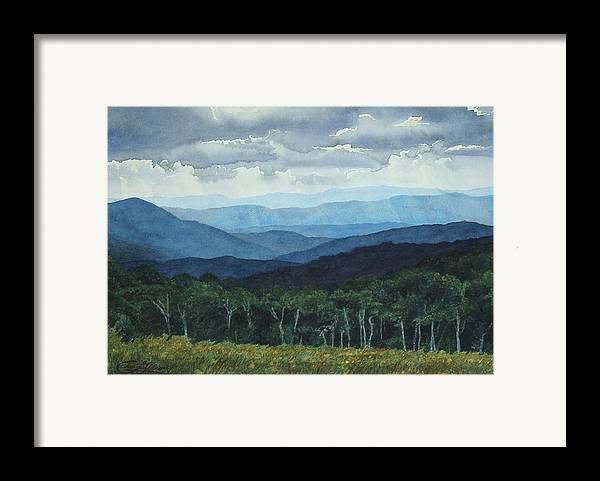 Blue Ridge Mountains Framed Print featuring the painting Blue Ridge From Grassy Bald Study by Craig Gallaway