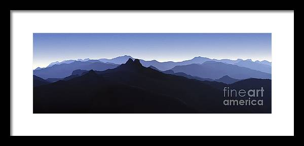 Blue Ridge Mountains Framed Print featuring the photograph Blue Ridge Mountains. Pacific Crest Trail by David Zanzinger