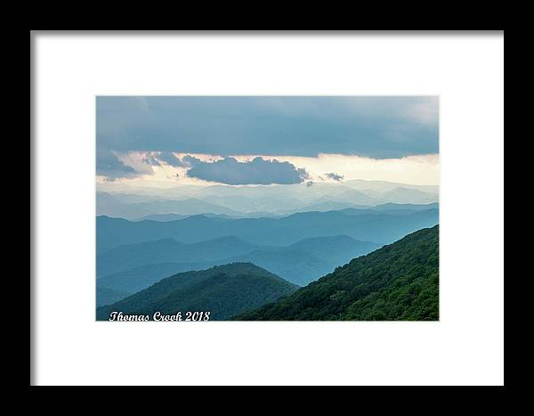 Craggy Gardens Framed Print featuring the photograph Blue Ridge Mountains View From Craggy Garden by Thomas Crook