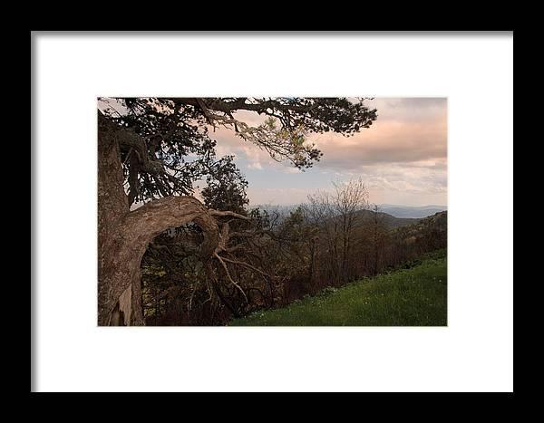 Blue Ridge Mountains Framed Print featuring the photograph Blue Ridge Mts by Joseph G Holland