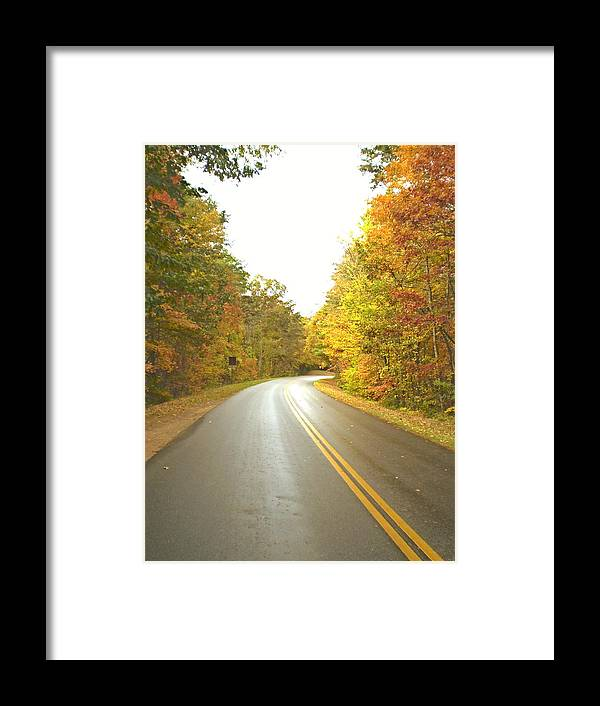 Asheville Framed Print featuring the photograph Blue Ridge Parkway In Fall by Utopia Concepts