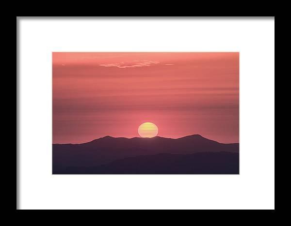 Sunrise Framed Print featuring the photograph Blue Ridge Parkway Sunrise - A Close View by Bill Swindaman