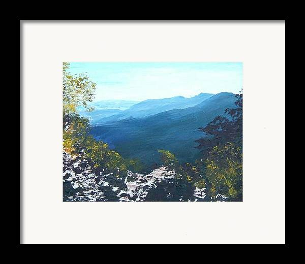 Landscape Framed Print featuring the painting Blue Ridge by Tami Booher
