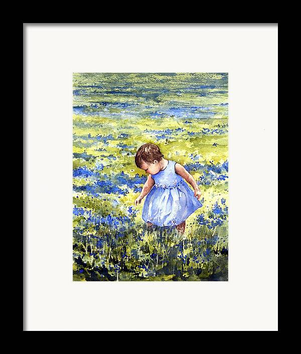 Blue Framed Print featuring the painting Blue by Sam Sidders