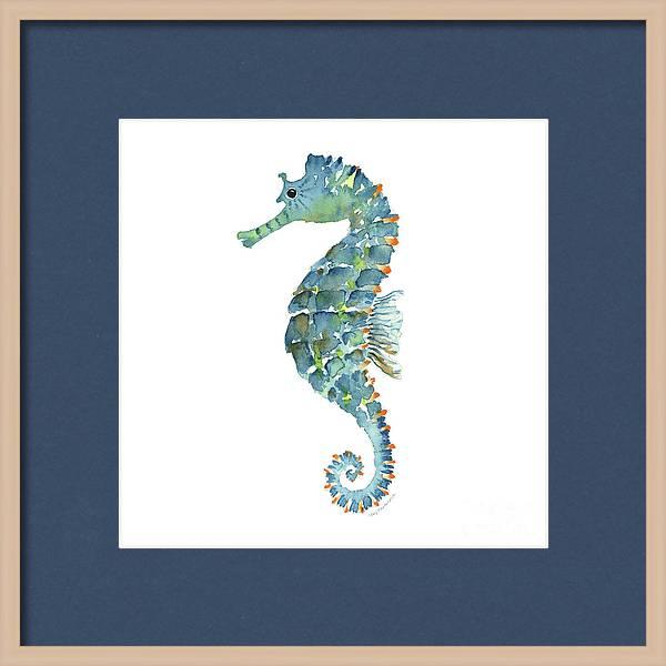 Blue Seahorse by Amy Kirkpatrick