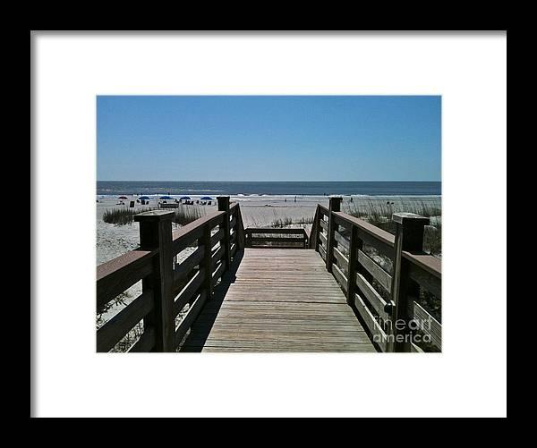 Beach Framed Print featuring the photograph Blue Sky And Beautiful Beach by Carol Bradley