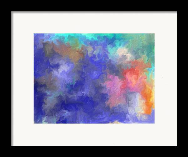Blue Sky Painting Framed Print featuring the painting Blue Sky Painting by Don Wright