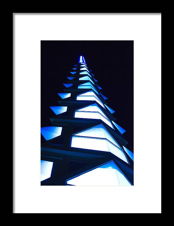 Blue Framed Print featuring the photograph Blue Spire by Richard Henne