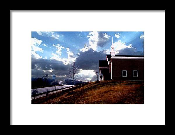 Landscape Framed Print featuring the photograph Blue Springs Landscape by Steve Karol