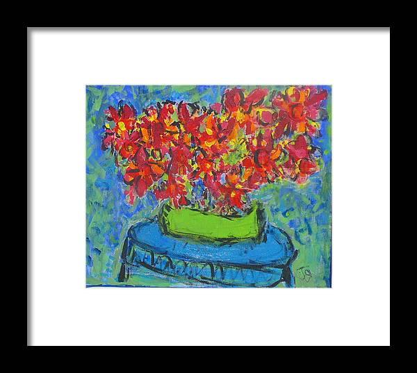 Still Life Framed Print featuring the painting Blue Still by Joyce Goldin