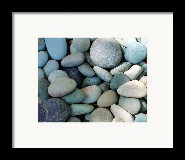 Blue Framed Print featuring the photograph Blue Stones From Bali by Heather S Huston