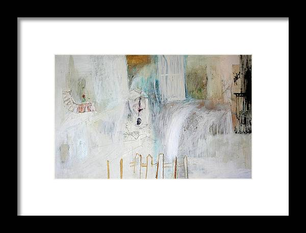 House Framed Print featuring the painting Blue Tears by Patricia Hoffman