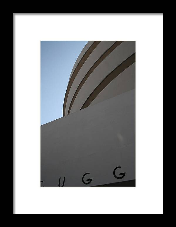 Guggenheim Framed Print featuring the photograph Blue Twists by Jeff Porter