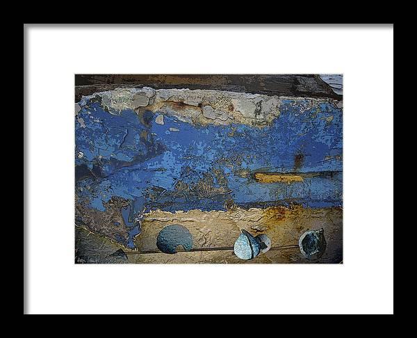 Photopainting Framed Print featuring the digital art Blue Wall by Helga Schmitt