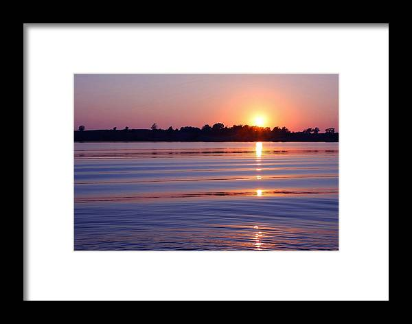 Sunset Framed Print featuring the photograph Blue Water Sunset by Jim Darnall