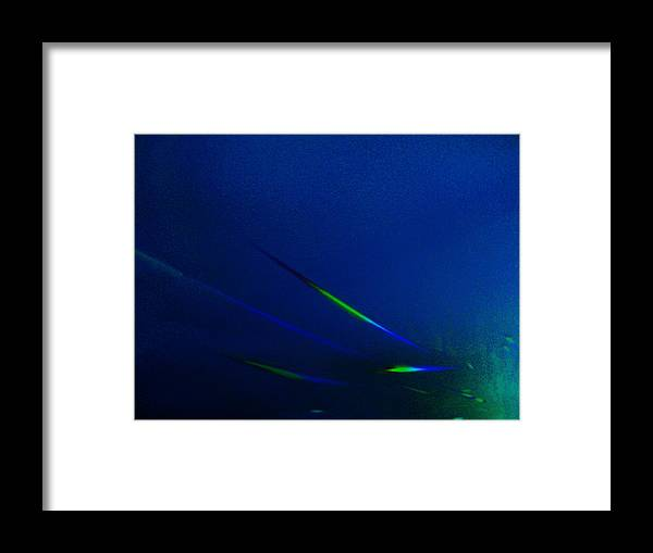 Under Deep See Fish Framed Print featuring the mixed media Blue Waters by Nereida Slesarchik Cedeno Wilcoxon