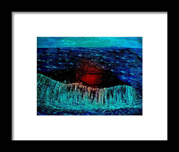 Pietyz Framed Print featuring the painting Blue Whale 2 by Piety Dsilva
