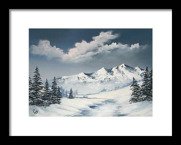Winter Framed Print featuring the painting Blue Winter by Craig Granato