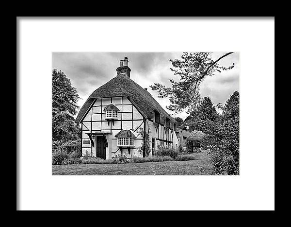 Cottage Framed Print featuring the photograph Bluebell Cottage Micheldever by Shirley Mitchell