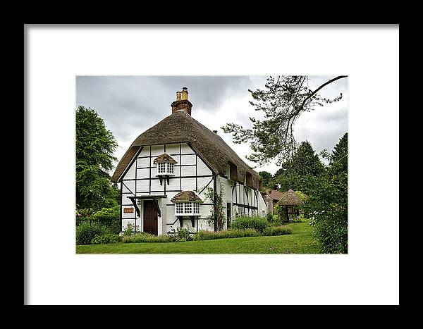 England Framed Print featuring the photograph Bluebell Cottage by Shirley Mitchell