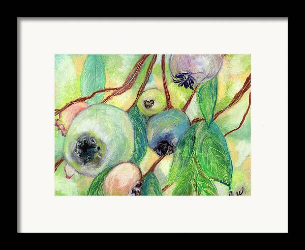 Blueberries Framed Print featuring the painting Blueberries by Pamela Wilson