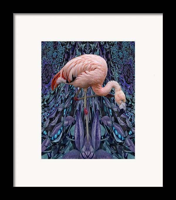 Bird Framed Print featuring the digital art Blueberry Bird by Chuck Brittenham